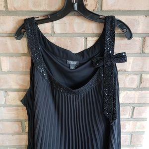 24W 3X flapper inspired Black Dress hides everythi